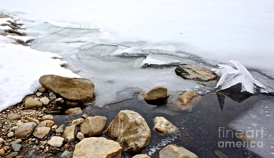 Quabbin Reservoir Photograph - Winter Quabbin by Randi Shenkman