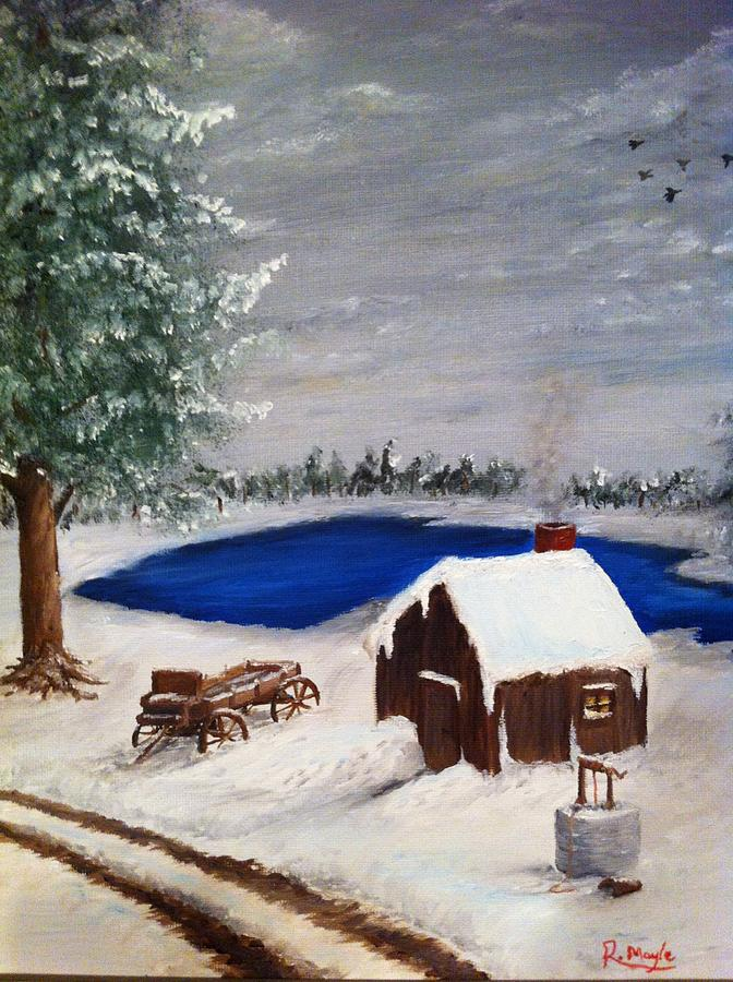 Winter Painting - Winter by Roy J Moyle