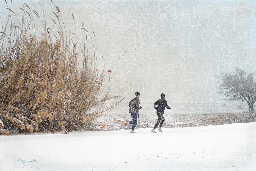 Winter Runners Photograph  - Winter Runners Fine Art Print