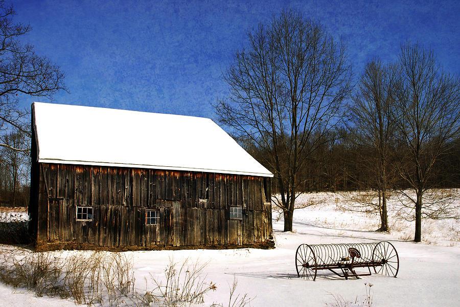 Winter Photograph - Winter Scenic Farm by Christina Rollo