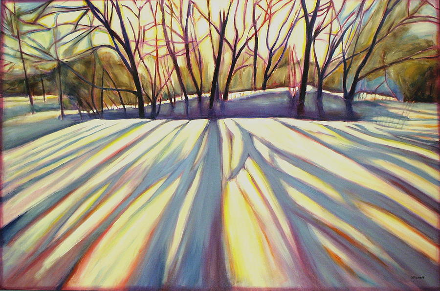 Winter Shadows Painting  - Winter Shadows Fine Art Print