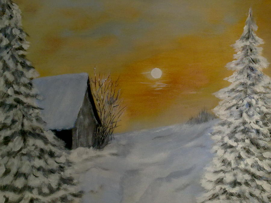 Winter Silence  Painting  - Winter Silence  Fine Art Print