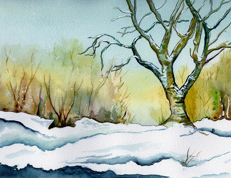 Winter Solitude Painting  - Winter Solitude Fine Art Print