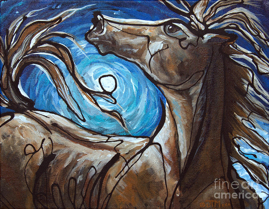 Winter Solstice Moon Painting