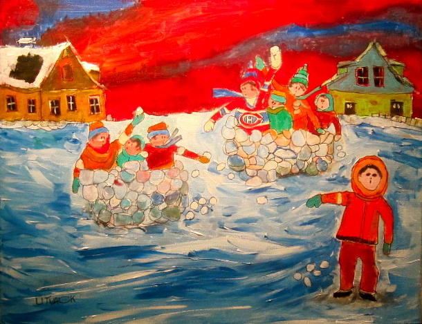 Winter Sport Painting