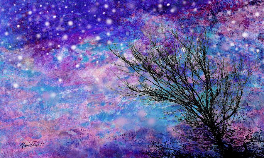 Winter Starry Night Painting