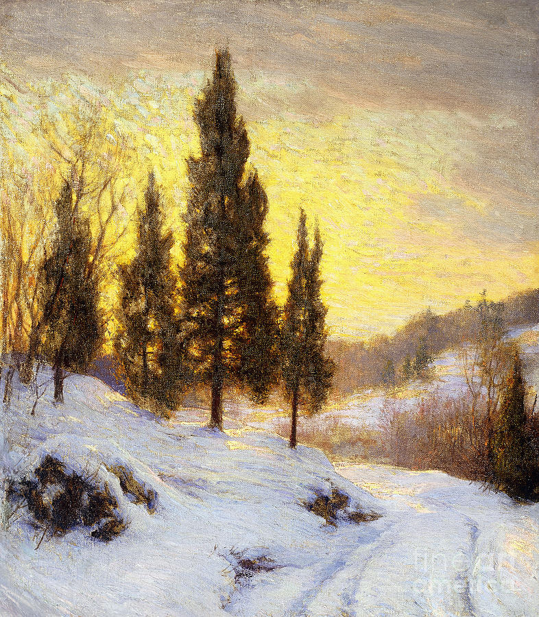 Winter Sundown Painting