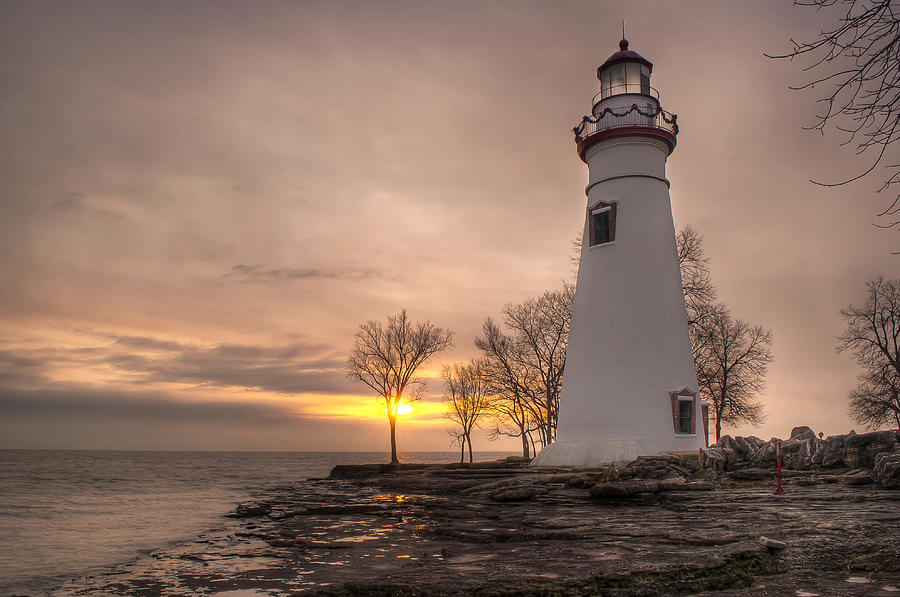 Winter Sunrise At Marblehead Lighthouse by At Lands End ...
