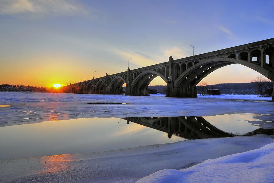 Sunset Photograph - Winter Sunset by Dan Myers