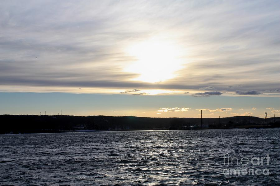 Winter Sunset Over Gardiners Bay Photograph