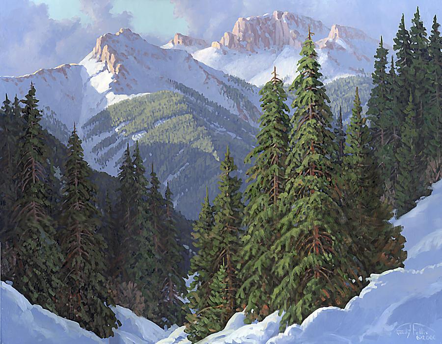 Winter Sunshine Painting
