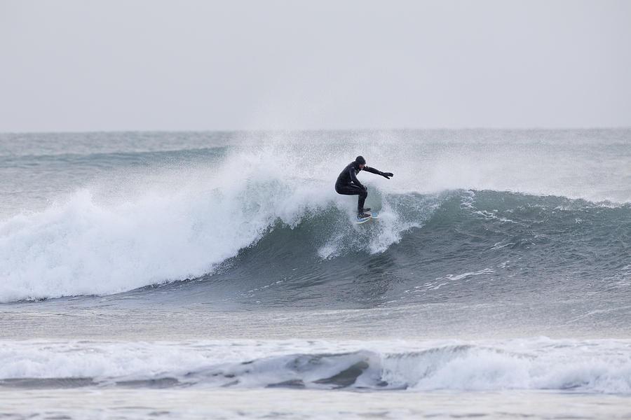 Winter Surfing Photograph