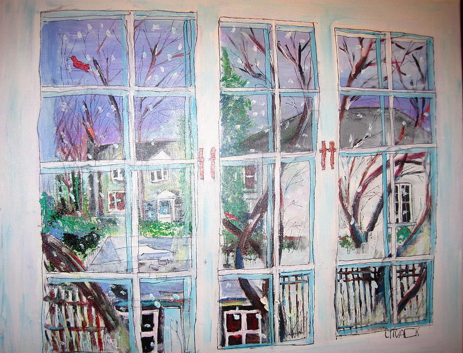 Winter Window Painting