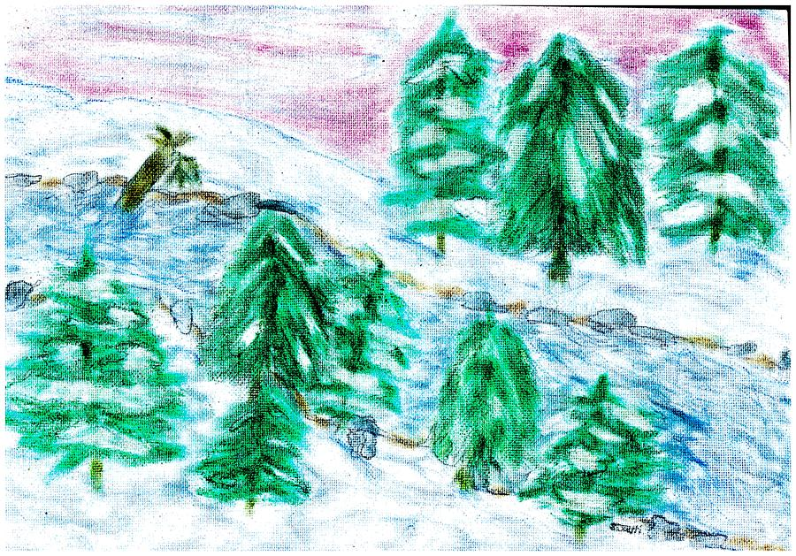 Winter Wonderland Pastel  - Winter Wonderland Fine Art Print