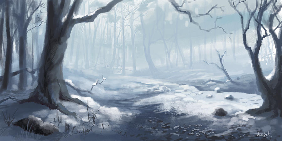 Winter Wood Painting