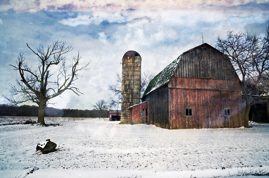 Winters Day Barn Photograph