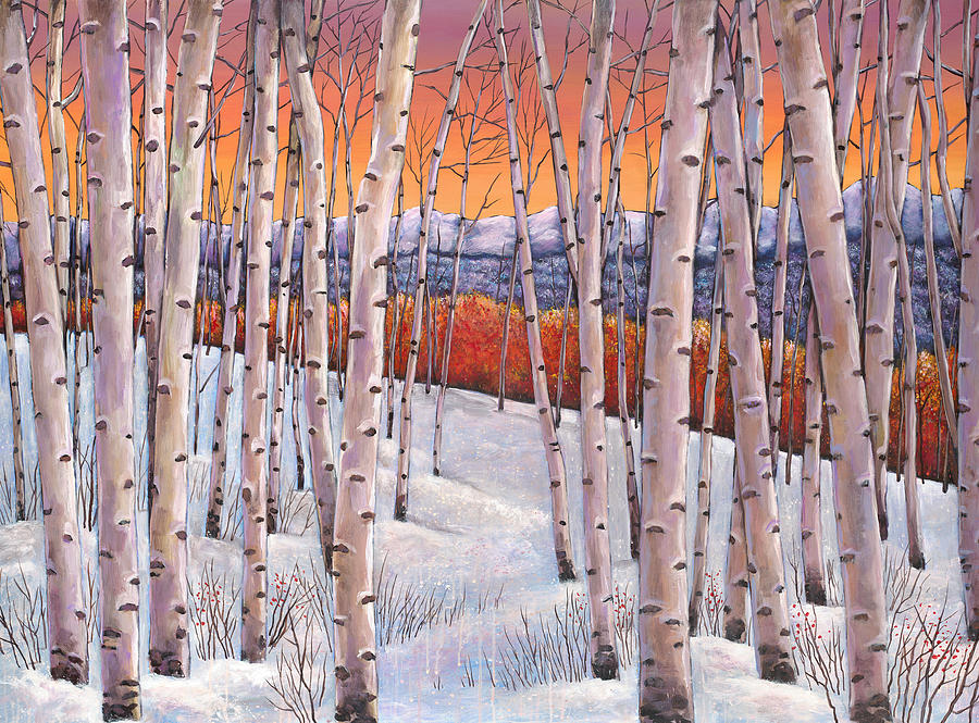Winters Dream Painting  - Winters Dream Fine Art Print