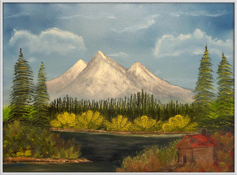 Winter Painting - Winters End by Joyce Krenson