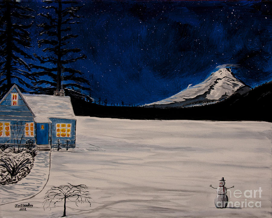 Winters Eve Painting