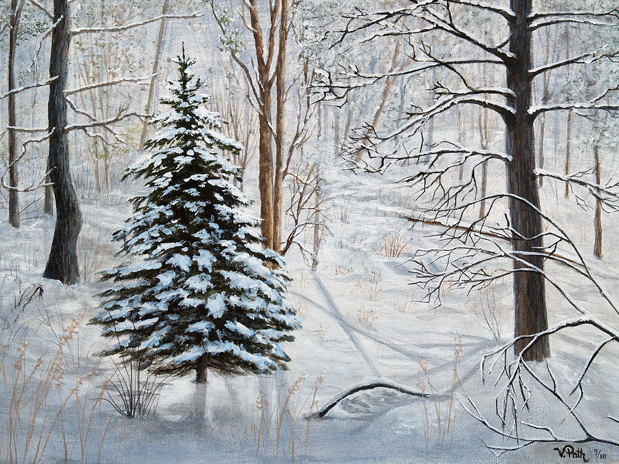 Winters Peace Painting  - Winters Peace Fine Art Print