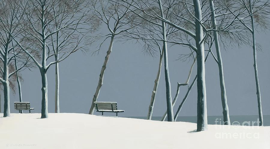 Winters Solitude Painting  - Winters Solitude Fine Art Print