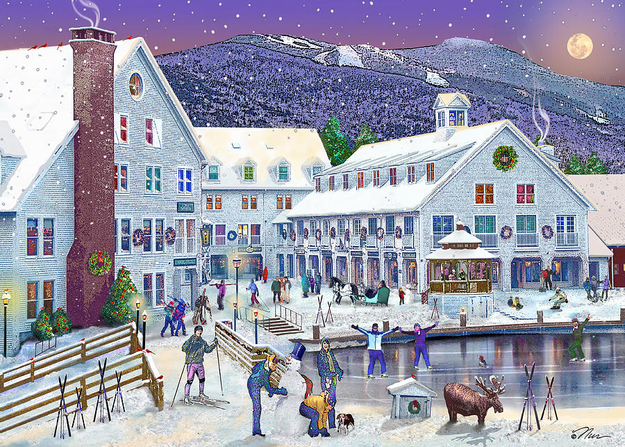 Waterville Valley New Hampshire Photograph - Wintertime At Waterville Valley New Hampshire by Nancy Griswold