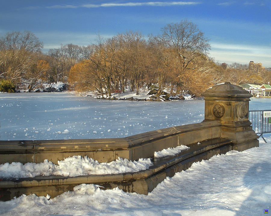 Central Park Photograph - Wintery Afternoon At Bathsheba Terrace by Muriel Levison Goodwin