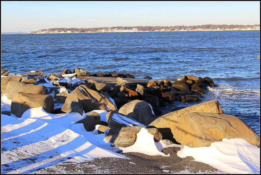 Winter Photograph - Wintry Day At The Bay by Dora Sofia Caputo Photographic Art and Design