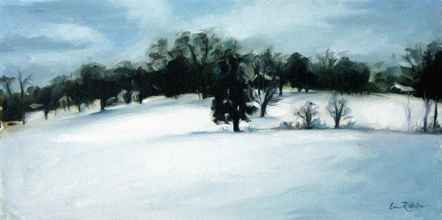 Wintry Hill Painting  - Wintry Hill Fine Art Print