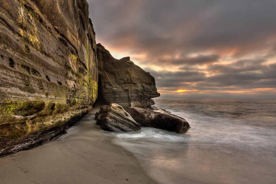 Wipeout Beach Cliffs Photograph