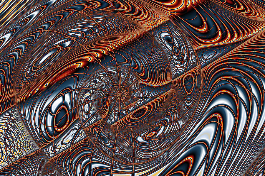 Wire Gnarl And Spokes Digital Art  - Wire Gnarl And Spokes Fine Art Print