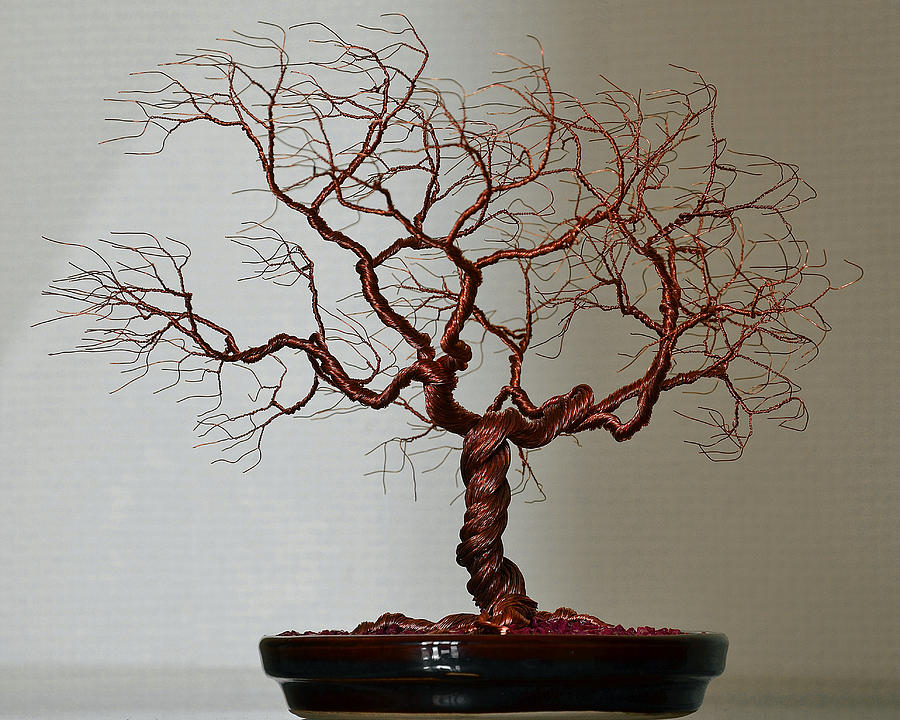 Wire tree sculpture sculpture by minskis for How to make a wire sculpture