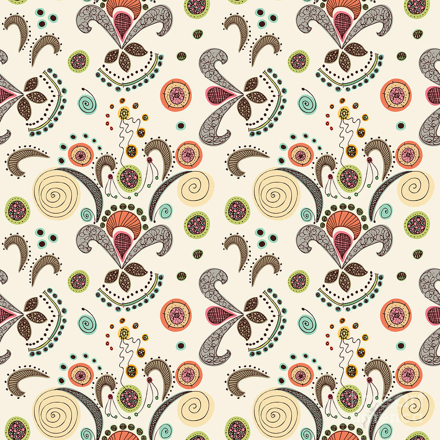 Pin printable flower patterns shape svc technologies for Fabric designs