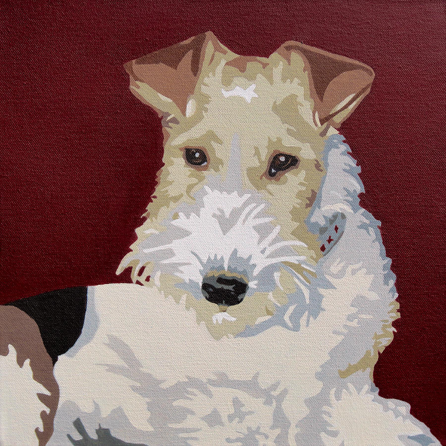 Wirehaired Fox Terrier Painting