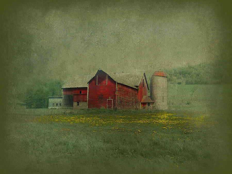 Wisconsin Barn In Spring Photograph