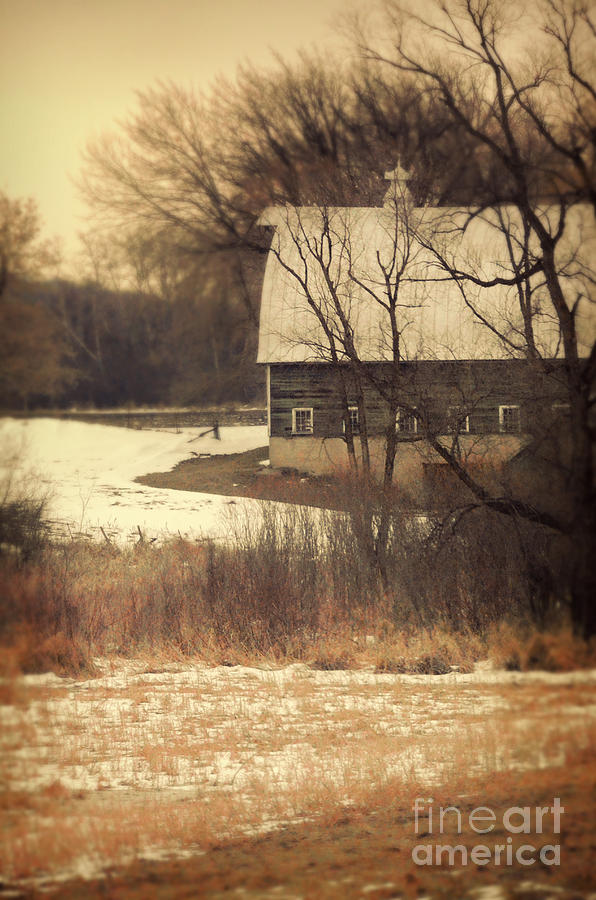 Wisconsin Barn In Winter Photograph