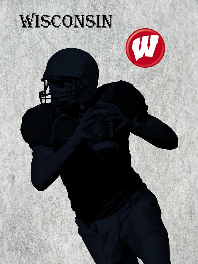 Wisconsin Football Digital Art  - Wisconsin Football Fine Art Print