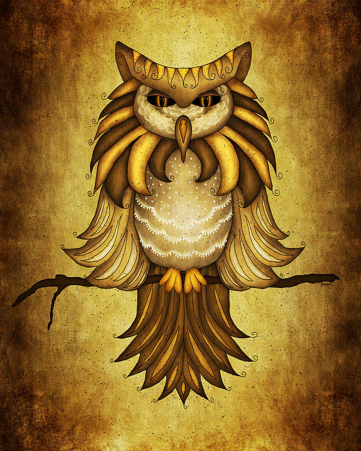 Wise Owl Painting  - Wise Owl Fine Art Print