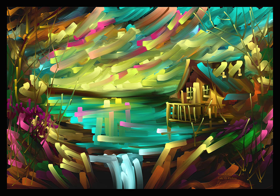 Wishing Lake - Scratch Art Series - # 32 Painting