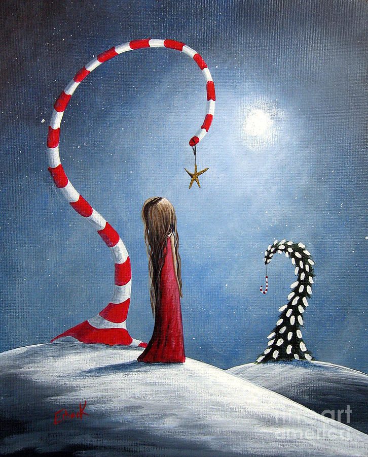 Wishing Star By Shawna Erback Painting  - Wishing Star By Shawna Erback Fine Art Print