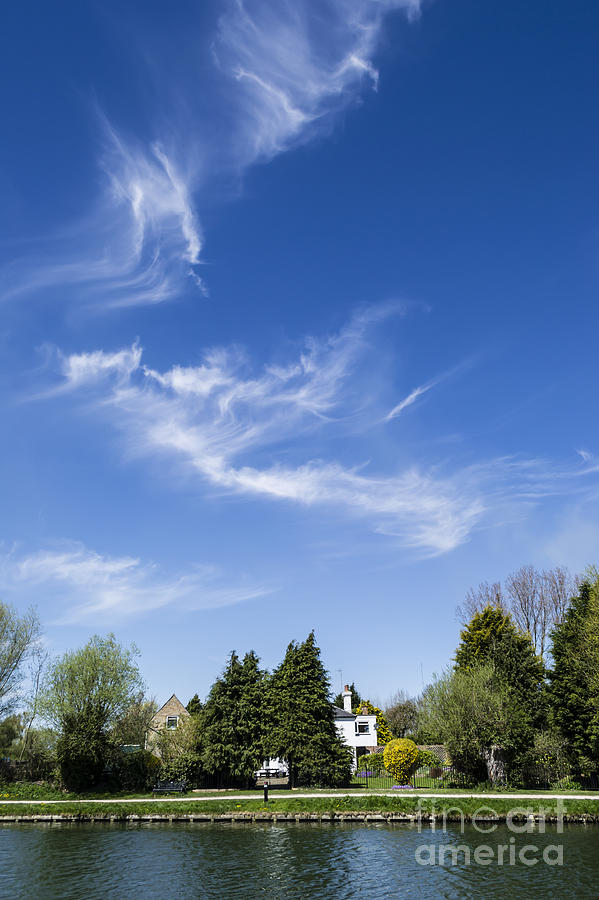 Wispy Clouds Above The River Cam Photograph