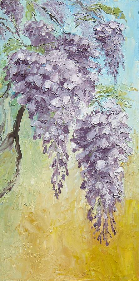 Nature Painting - Wisteria And Gold by Mary Rogers