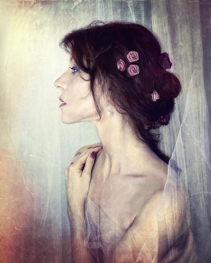 Portrait Photograph - Wistfully... by Spokenin RED