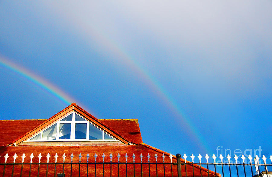 With Double Bless Of Rainbow Photograph  - With Double Bless Of Rainbow Fine Art Print