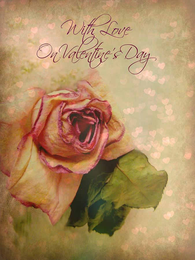 Greeting Card Photograph - With Love On Valentines Day by Shirley Sirois