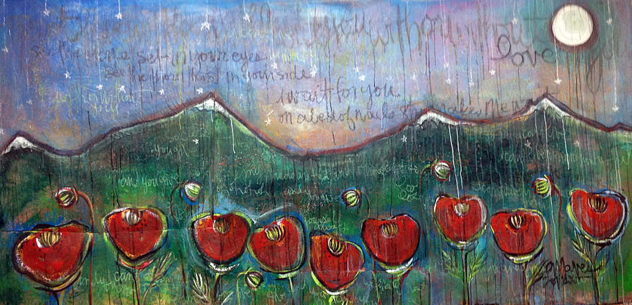 U2 Painting - With Or Without You by Laurie Maves ART