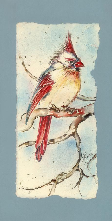 Cardinal Painting - With Touches Of Red  by Anna Ewa Miarczynska