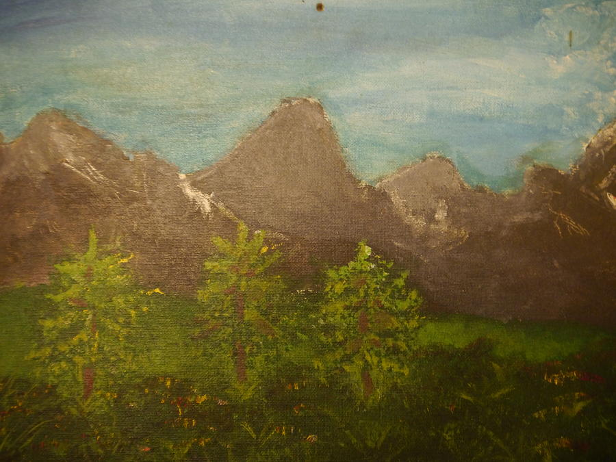 Within The Mountains Painting  - Within The Mountains Fine Art Print