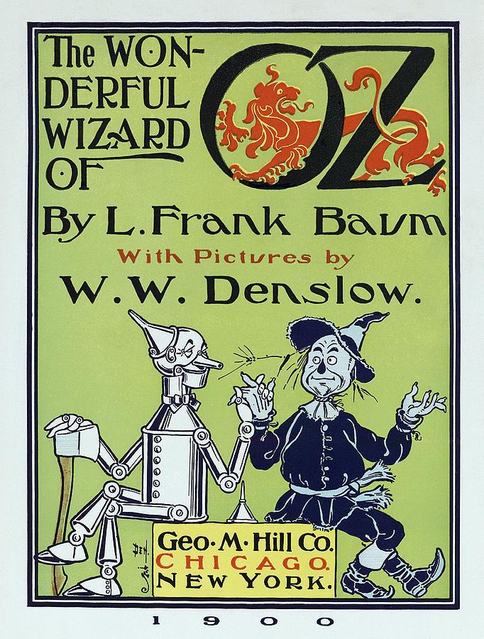 Wizard Of Oz Book Cover  1900 Photograph