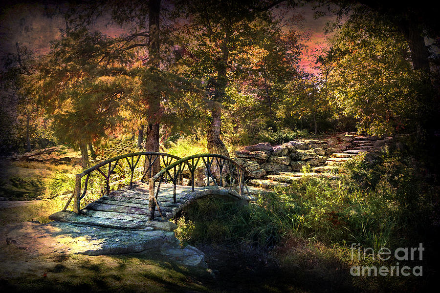 Woddard Park Bridge II Photograph  - Woddard Park Bridge II Fine Art Print